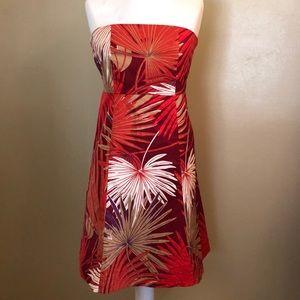 Like new-GAP strapless printed dress